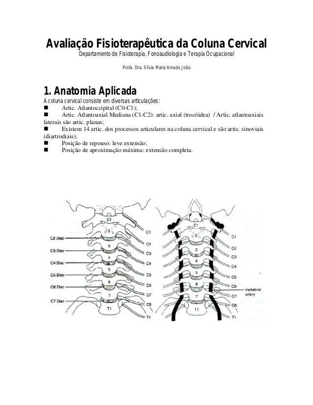 Avaliação Fisioterapêutica da Coluna Cervical              Departamento de Fisioterapia, Fonoaudiologia e Terapia Ocupacio...