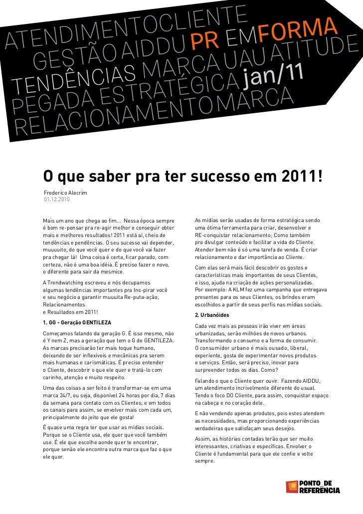 Coluna Tendências 2011