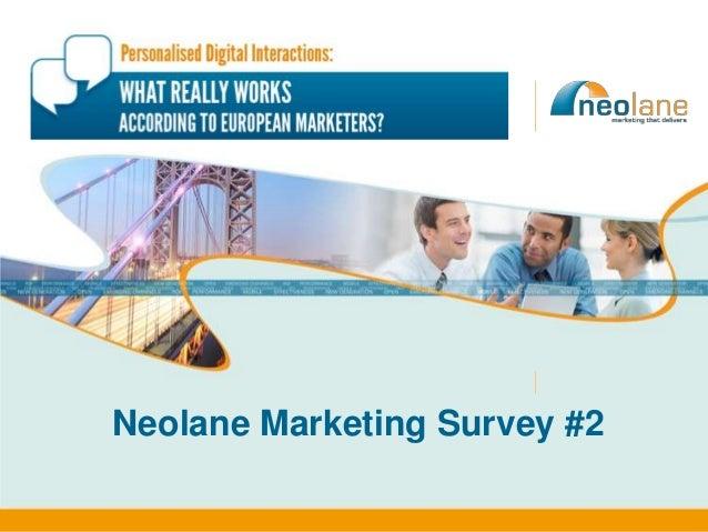 Neolane Marketing Survey #2