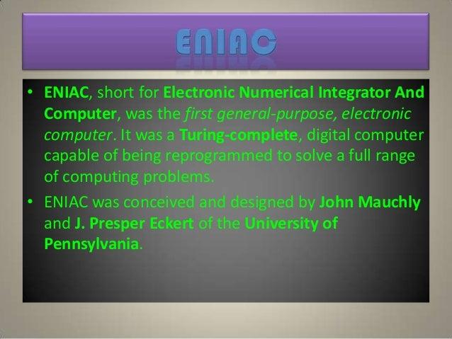 History Of Computers Eniac And Edvac