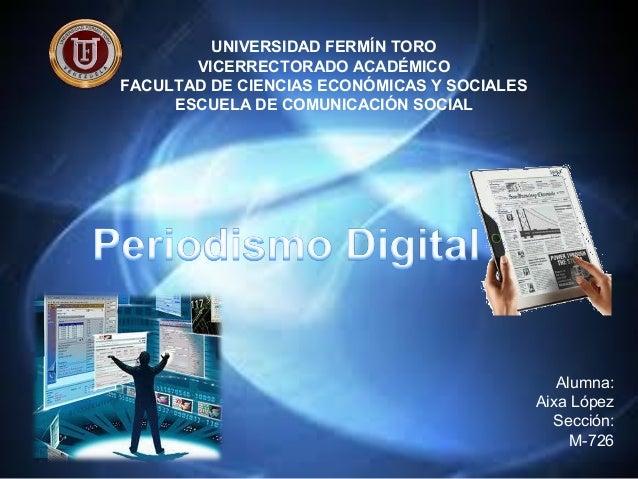 UNIVERSIDAD FERMÍN TOROVICERRECTORADO ACADÉMICOFACULTAD DE CIENCIAS ECONÓMICAS Y SOCIALESESCUELA DE COMUNICACIÓN SOCIALAlu...