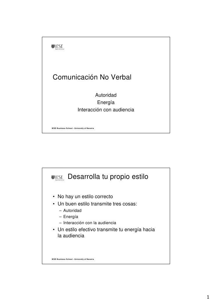 Comunicación No Verbal                                    Autoridad                                    Energía            ...