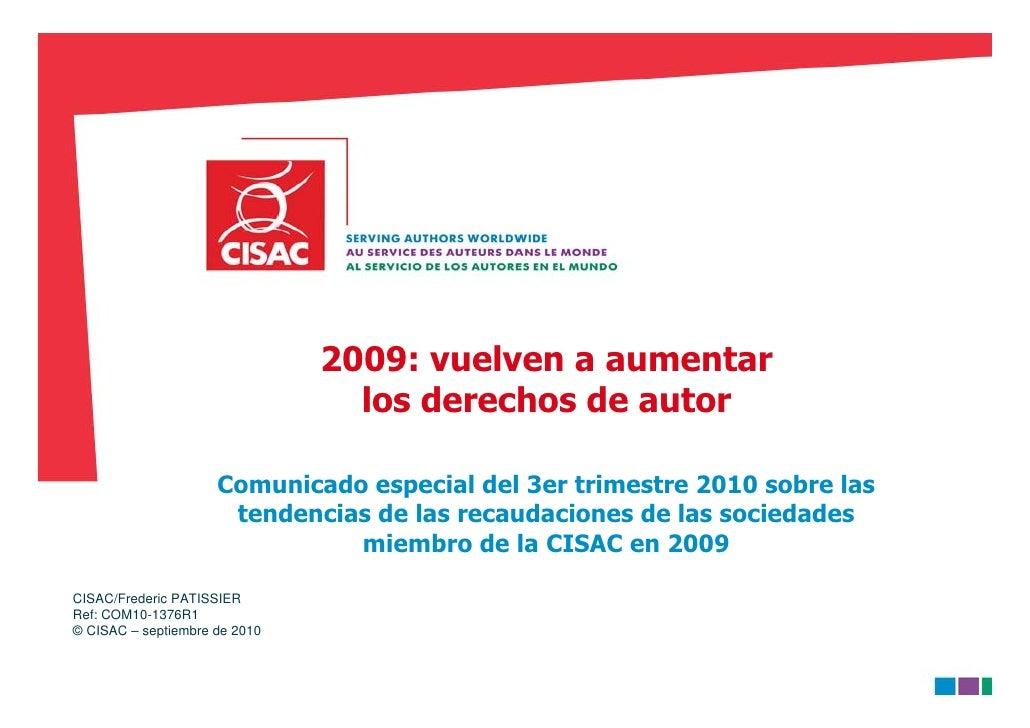 CISAC tendencias_2009_recaudaciones_2010-09-28_es