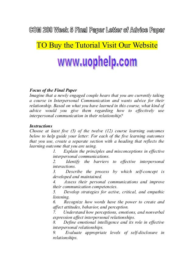TO Buy the Tutorial Visit Our Website Focus of the Final Paper Imagine that a newly engaged couple hears that you are curr...