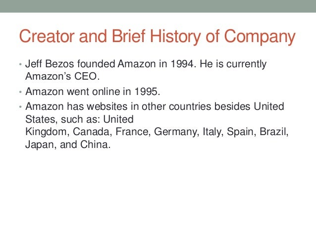 history of amazon com What is amazon's revenue or market share discover all company facts, statistics and data about amazon now on statistacom.