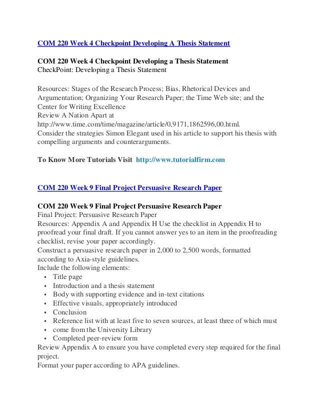 COM 220 Uop courses/Uophelp
