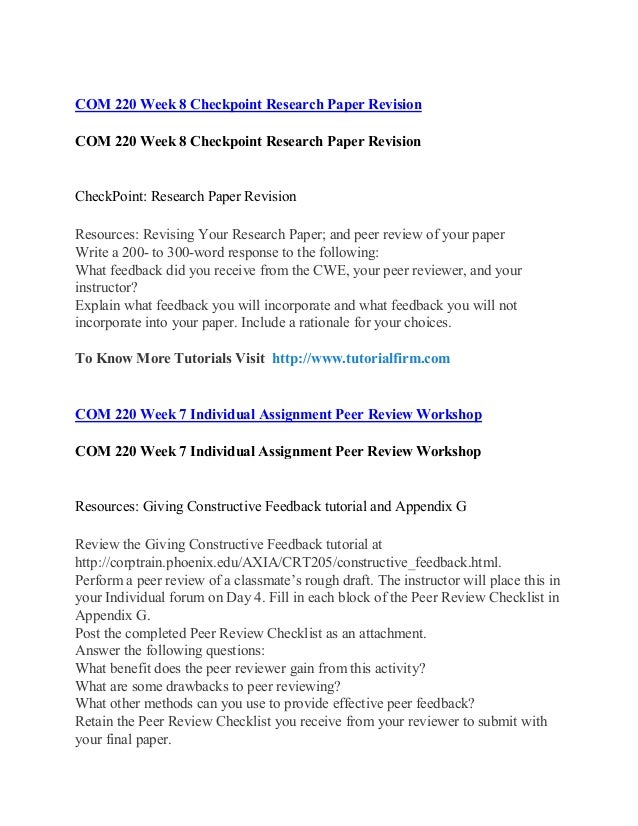 checkpoint research paper revision Points of view in writing there are three different points of view that can be used in writing: first person, second person.