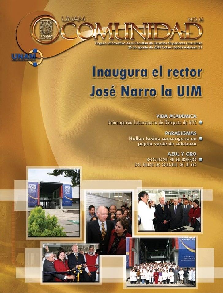 Editorial     Actualización de la carrera de Administración, un reto y una satisfacción Lic. Martha Patricia Santana Veláz...