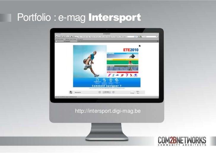 Com2B Emag Presentation2011 En slideshare - 웹