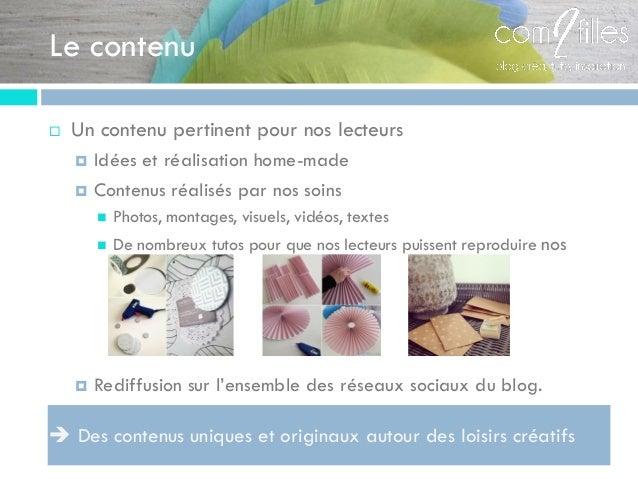 Le contenu  Un contenu pertinent pour nos lecteurs  Idées et réalisation home-made  Contenus réalisés par nos soins  P...