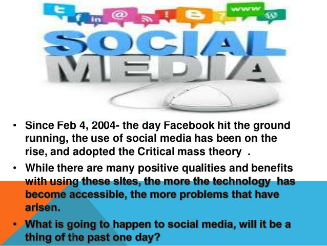 • In 10 years I predict that all of our social media will be combined and condensed in to one site that includes all funct...