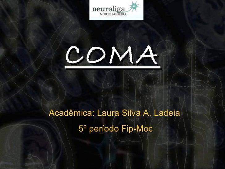 COMA Acadêmica: Laura Silva A. Ladeia  5º período Fip-Moc