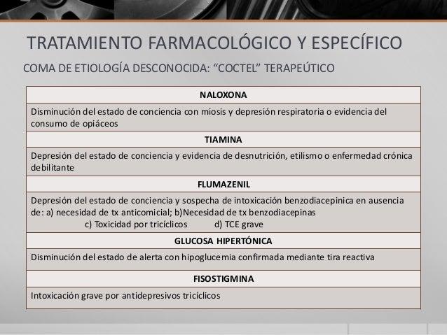 Coma, diagnóstico y tratamiento en urgencias