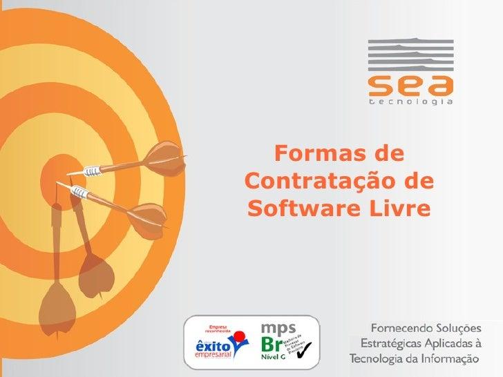 Formas de Contratação de Software Livre
