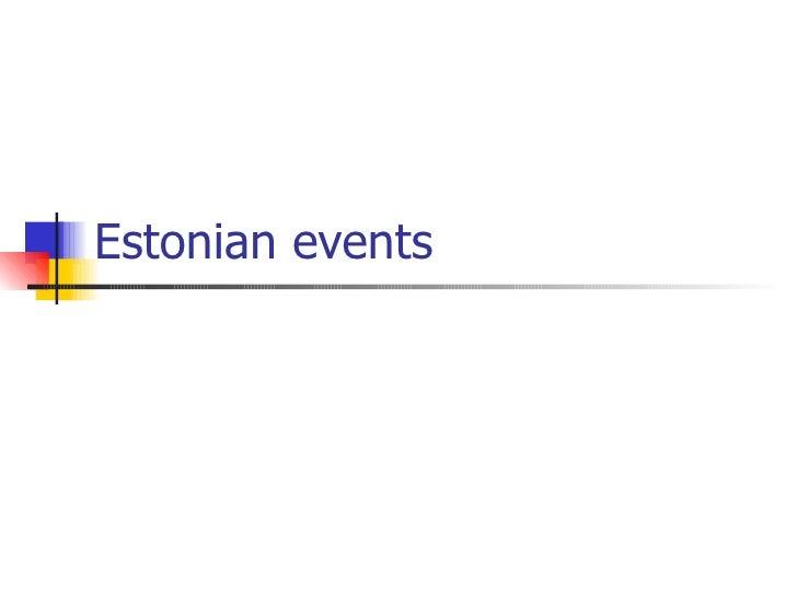 Estonian events