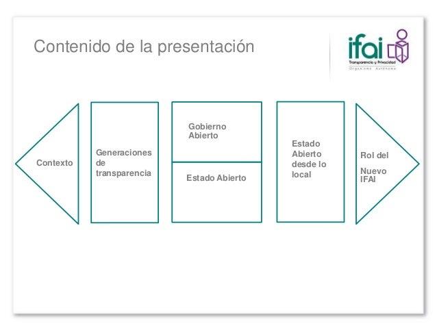 #NuevoIFAI Hacia un #EstadoAbierto Slide 3