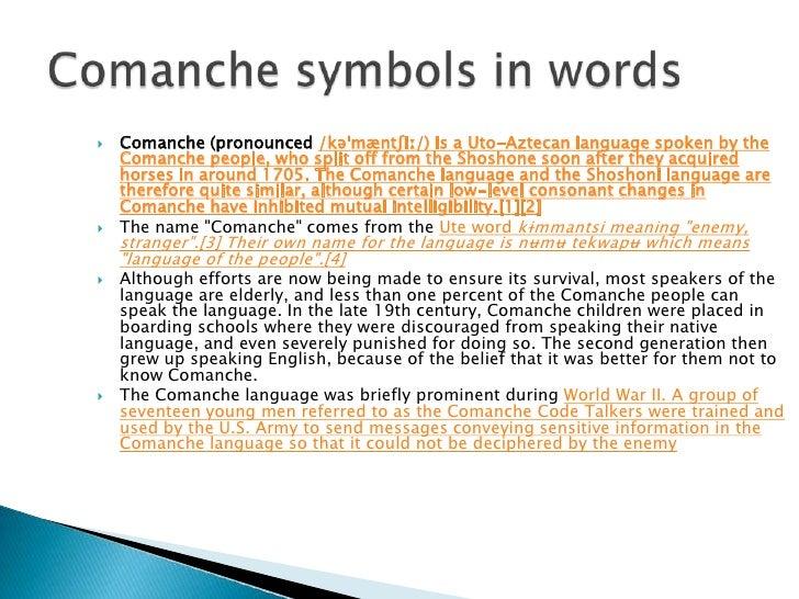 Comanche language - Wikipedia