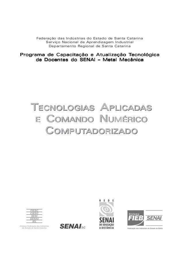 Federação das Indústrias do Estado de Santa Catarina Serviço Nacional de Aprendizagem Industrial Departamento Regional de ...