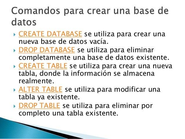 Comandos B 225 Sicos Para Bases De Datos Mysql Y Workbench
