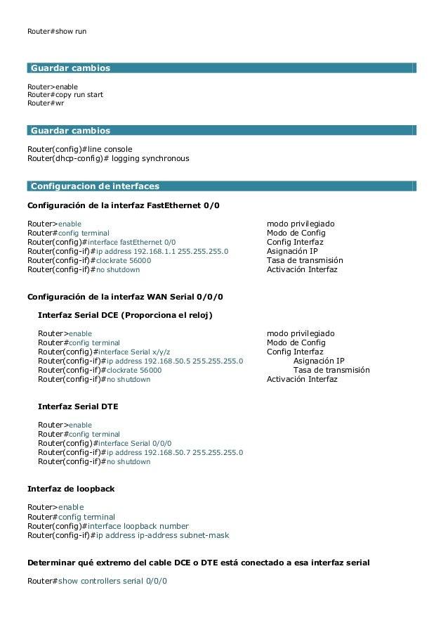 Comandos de configuracion de dispositivos cisco Slide 2