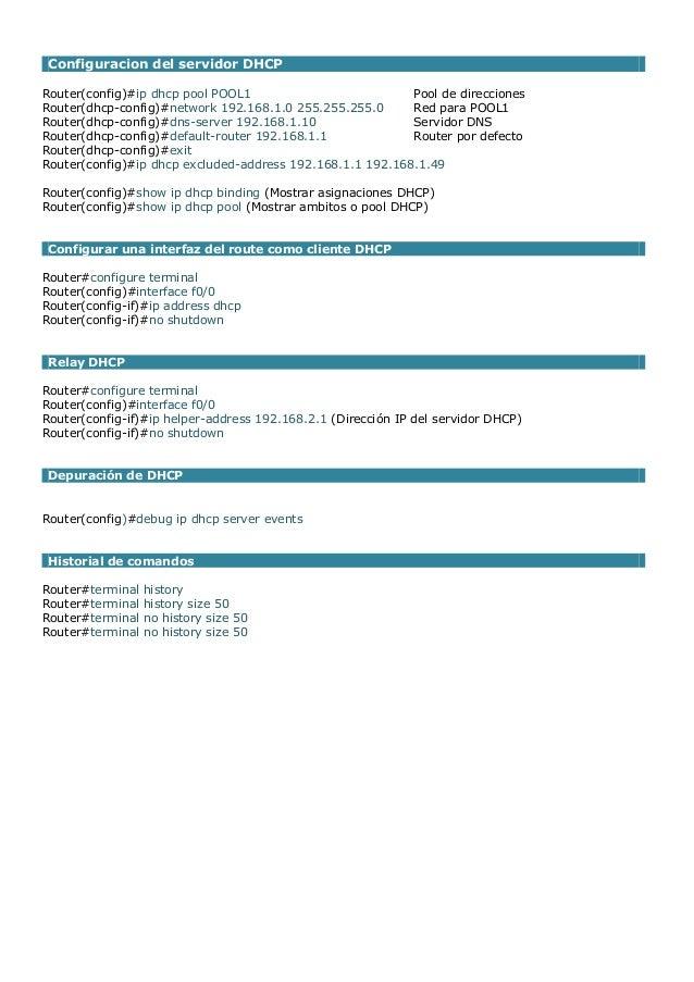 Comandos de configuracion de dispositivos cisco Slide 3