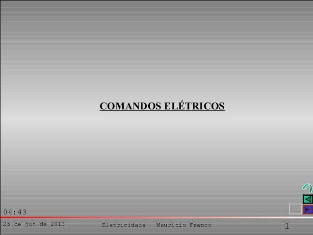 25 de jun de 2013 Eletricidade - Maurício Franco 104:43COMANDOS ELÉTRICOS