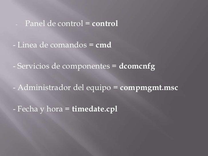 Comandos rápidos de windows 7 Slide 3