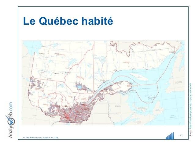© Tous droits réservés – Analyweb Inc. 2008 Le Québec habité 17 Source:https://lemythedesgrandsespaces.jimdo.com/accueil/