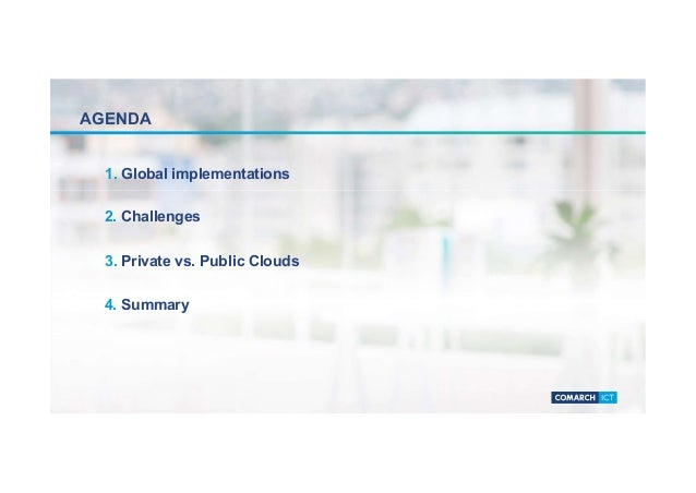Global implementation and benefits of private cloud Slide 2