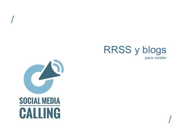 RRSS y blogs  para vender  /  /