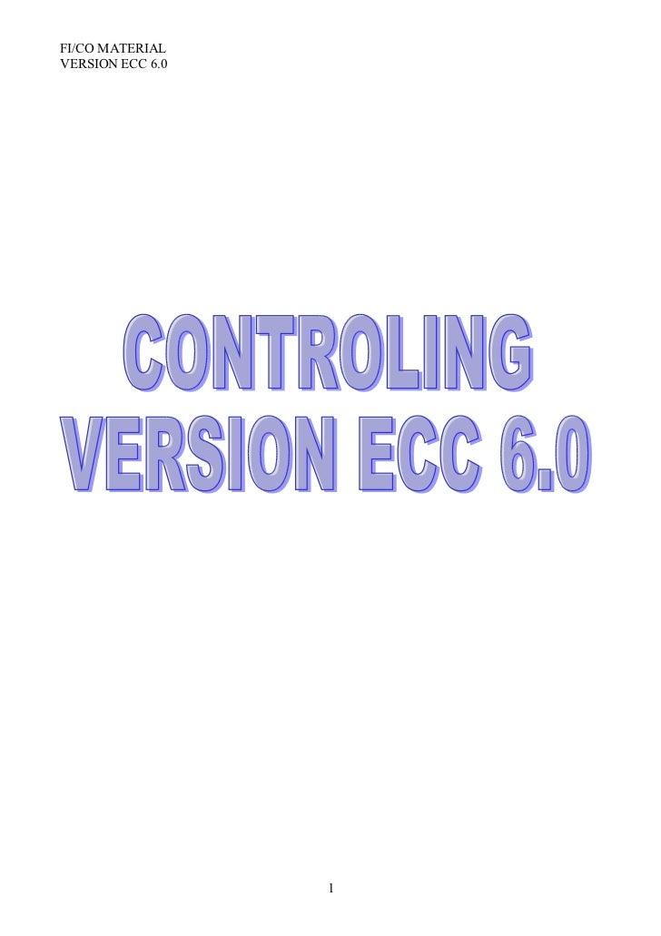 FI/CO MATERIALVERSION ECC 6.0                  1