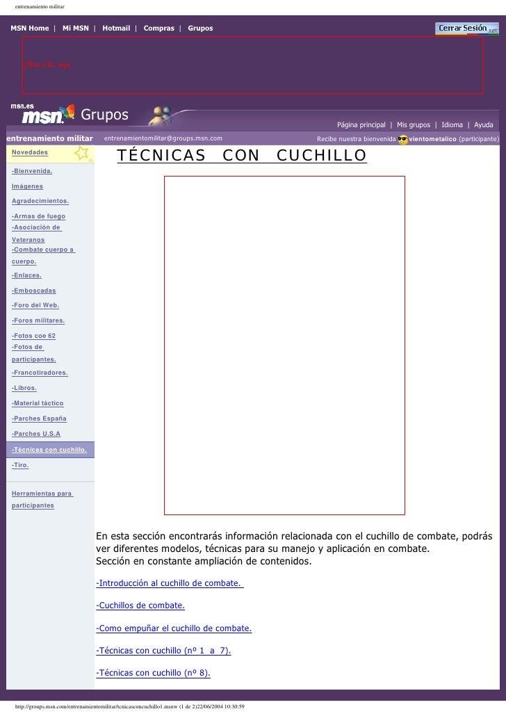 entrenamiento militar    MSN Home | Mi MSN | Hotmail | Compras | Grupos          ¡Haz clic aqu                            ...