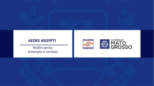 Noções gerais, prevenção e combate AEDES AEGYPTI