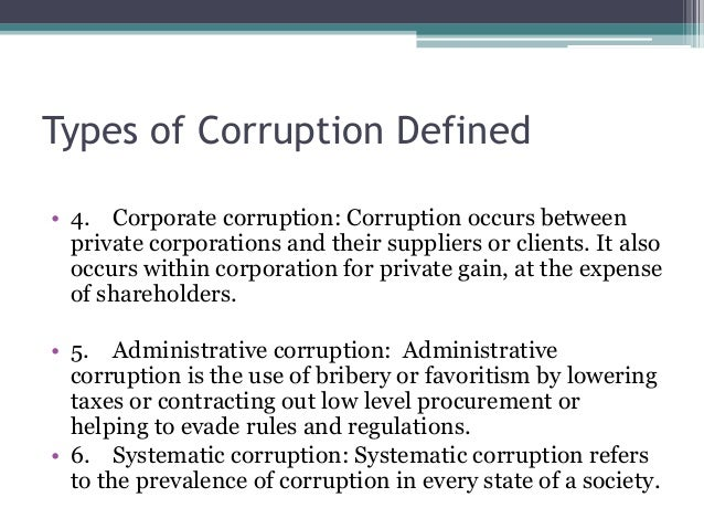 combating corruption Abstract corruption is a critical challenge to global health efforts, and combating  it requires international action, advocacy, and research.