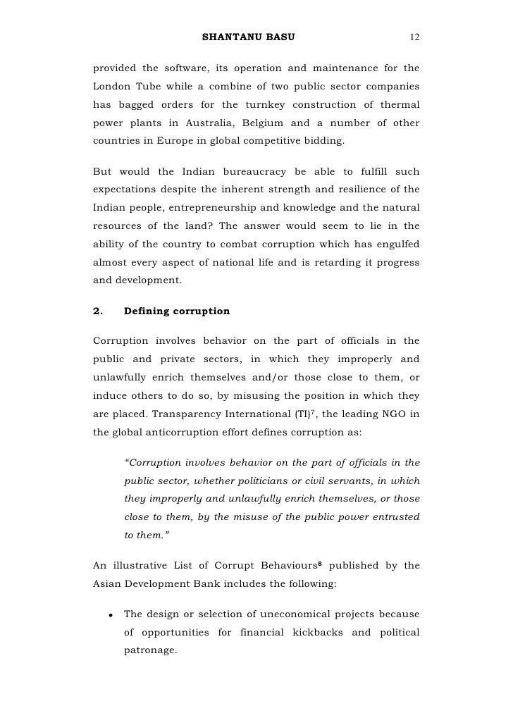 icse essay on corruption