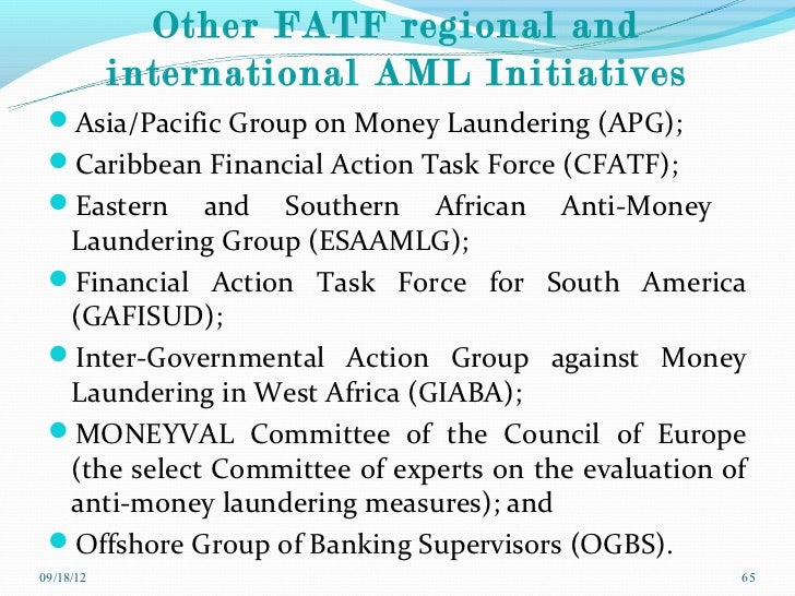 nigerian anti money laundering and combating Implementation of the anti-money laundering regime in  2004 and enact the money laundering (prohibition) act, 2011  nigerian customs service pursuant to.