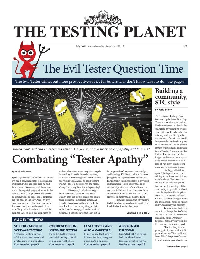 July 2011 | www.thetestingplanet.com | No: 5                                                                              ...