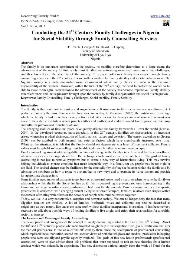 Developing Country Studies www.iiste.orgISSN 2224-607X (Paper) ISSN 2225-0565 (Online)Vol.3, No.4, 201352Combating the 21s...