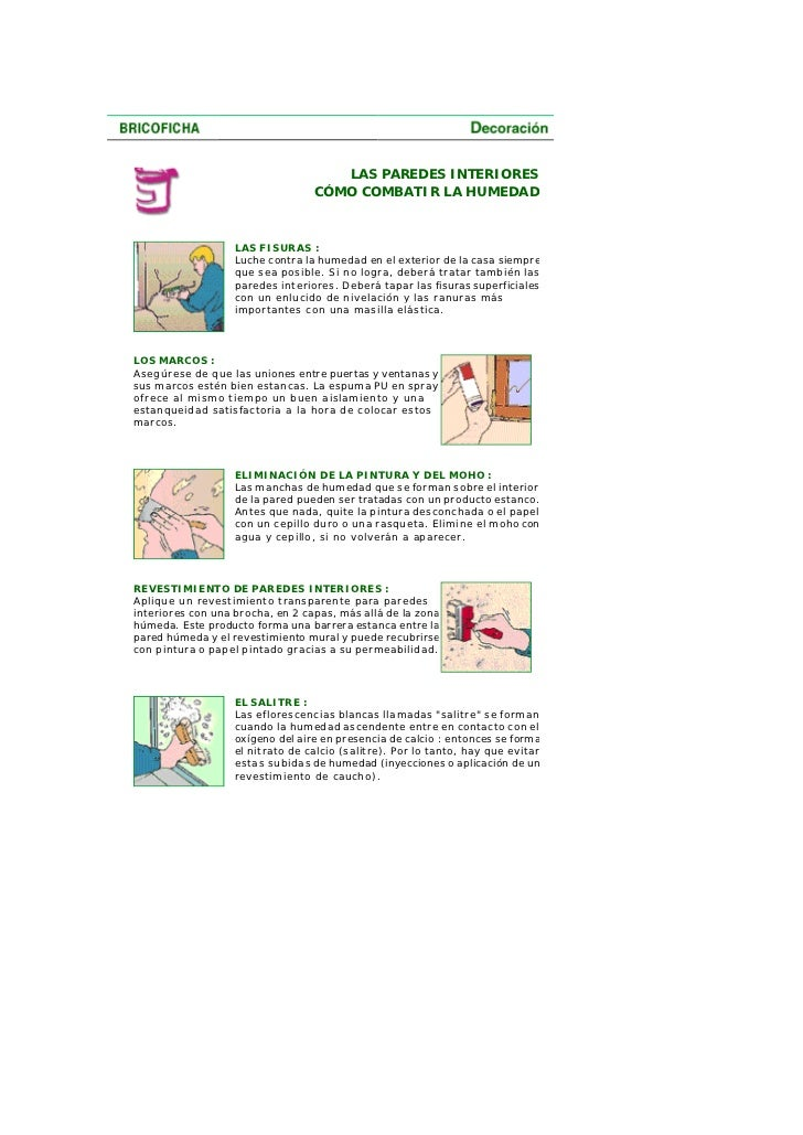 Combatir la - Como tratar la humedad en las paredes ...