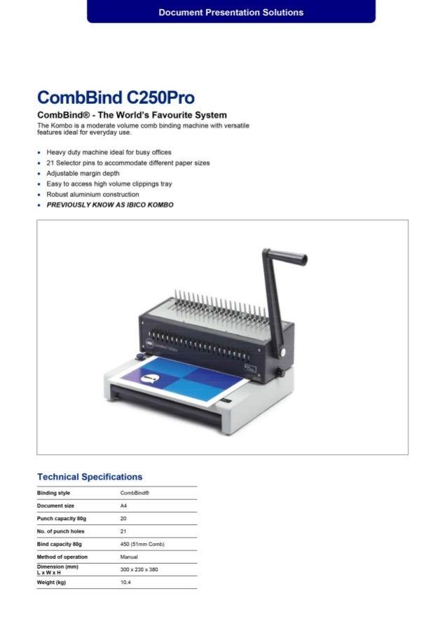 CombBind C250 Pro Kombo Flexible Office Binder