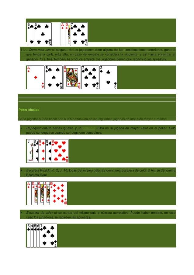 En caso de empate en poker quien gana