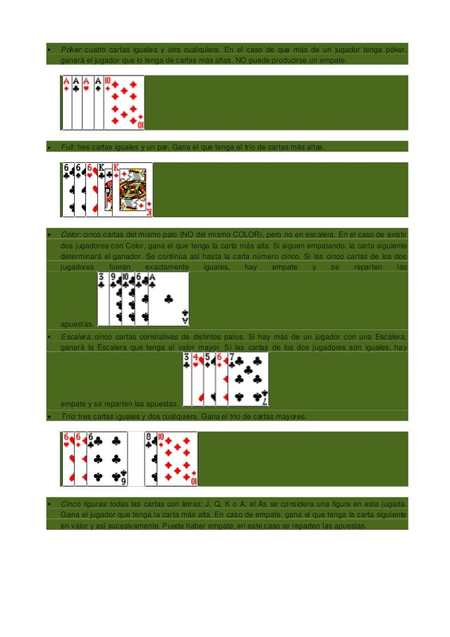 Poker jugadas orden