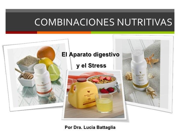 COMBINACIONES NUTRITIVAS El Aparato digestivo  y el Stress Por Dra. Lucía Battaglia