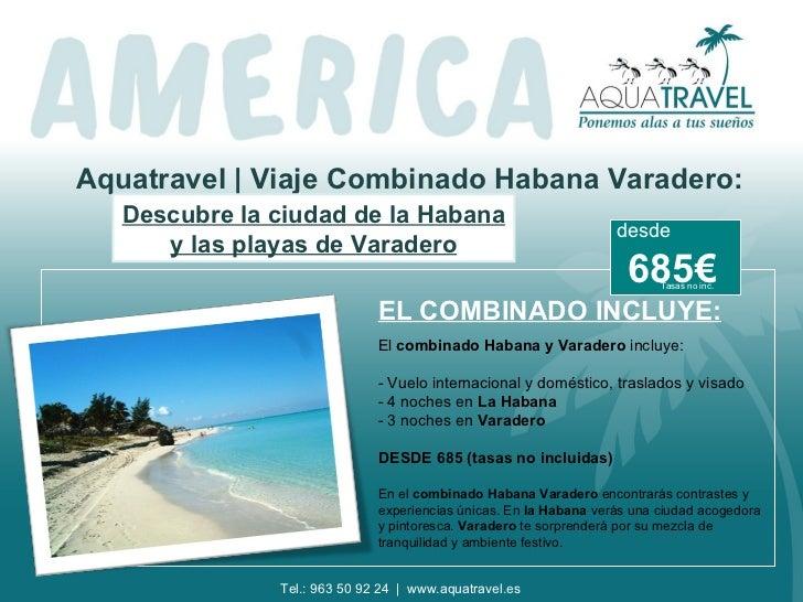 Aquatravel | Viaje Combinado Habana Varadero:   Descubre la ciudad de la Habana                                           ...