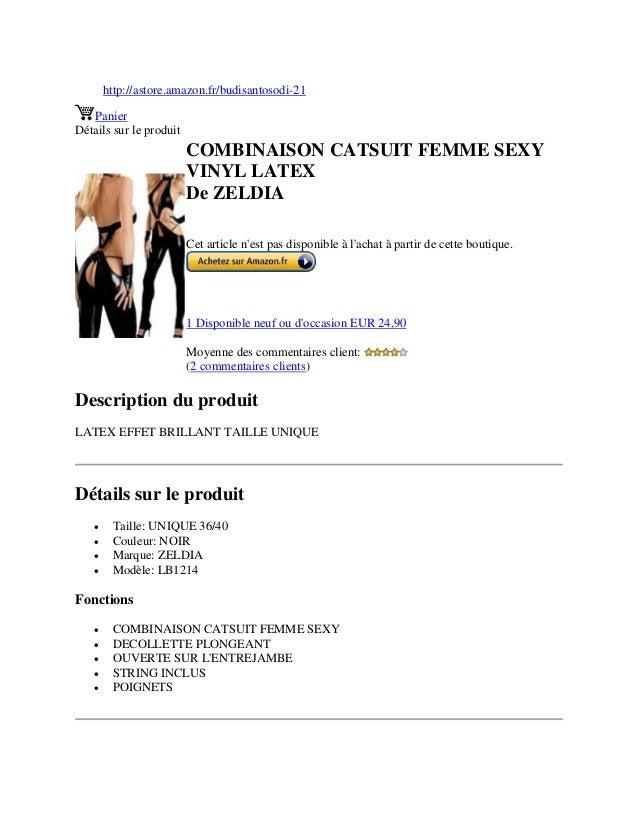 http://astore.amazon.fr/budisantosodi-21PanierDétails sur le produitCOMBINAISON CATSUIT FEMME SEXYVINYL LATEXDe ZELDIACet ...