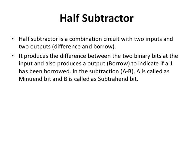 difference between half adder and full adder pdf