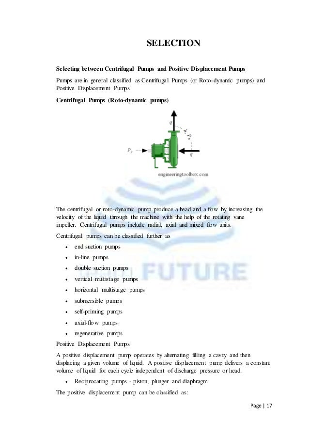 difference between positive and non positive displacement pump pdf