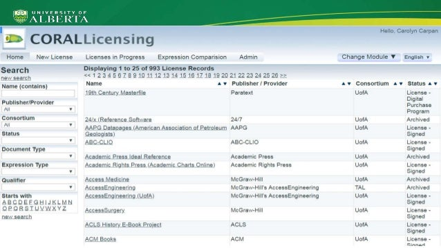 ● Only one licensing database to maintain ● All usage rights will be stored and displayed from one database ● More ILL inf...