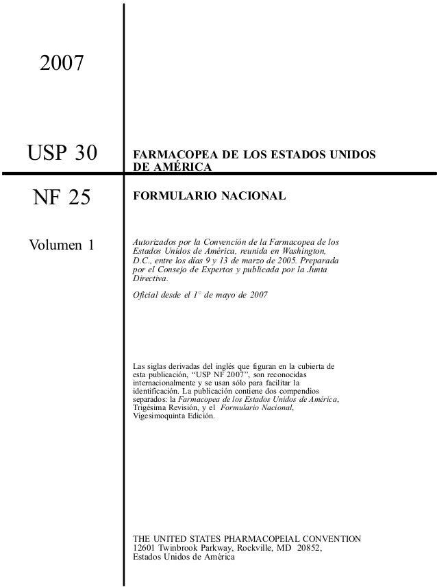 25 30 1 Microsoft W: Farmacopea USP-vol1-spa