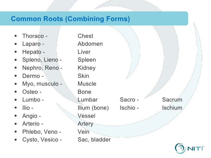 Combined 01 clinical training--terminology